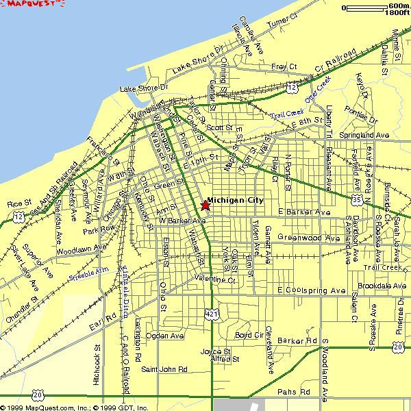 Map Of Michigan City Indiana Michigan Map - Cities of michigan map