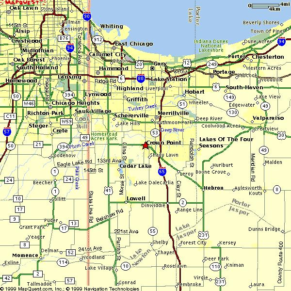 Lake County Indiana - Indiana map with cities
