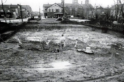 Ready To Begin Construction Of The Crown Point Post Office March 1935 Photo Courtesy Postmaster