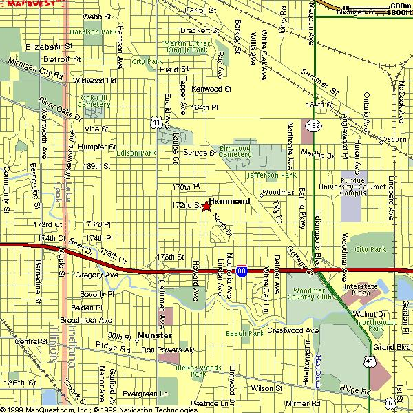 Hammond Indiana Zip Code Map.Hammond Indiana