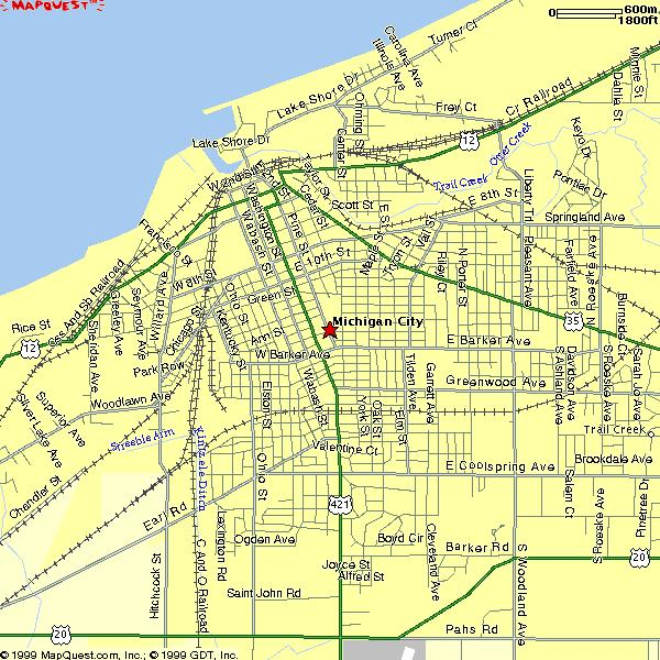 Map Of Michigan City Indiana Michigan City, Indiana